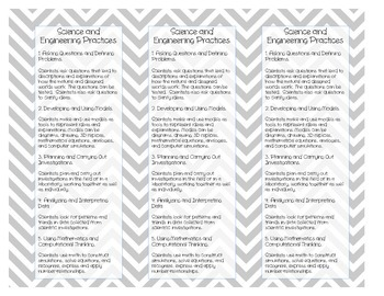 Printable: NGSS Student Bookmark