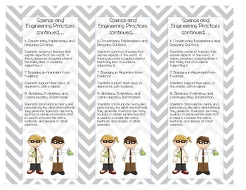 Printable NGSS Student Bookmark