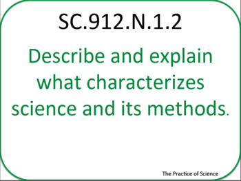 Printable NGSSS 9-12 Nature of Science
