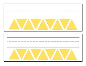 Printable Name Plates: Yellow Triangle Design