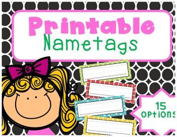 Printable Nametags