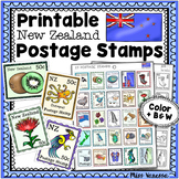 Printable New Zealand Postage Stamps