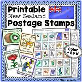 Printable New Zealand Postage Stamps