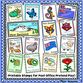 photo relating to Stamp Printable named Printable Fresh new Zealand Postage Stamps