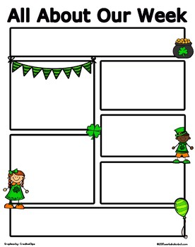 printable newsletter template st patrick s day themed by