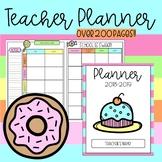 Printable, No Prep Teacher Planner {Dessert/Sweets Themed}