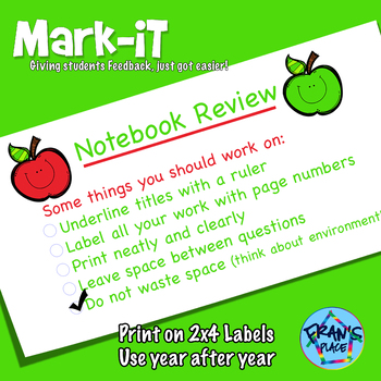 Classroom Management Notebook Review Sticker