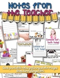 Printable Notes from the Teacher
