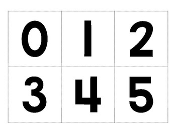 image regarding Printable Numbers identified as Printable Variety Playing cards 0-10: Black and White