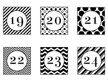 Number Labels in Black and White Theme