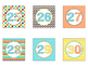 Printable Number Labels in Candy Colors Theme