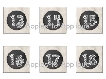 Number Labels in Chalkboard Theme