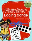 Printable Number Lacing Cards