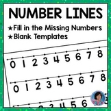 Blank Number Line Template Worksheets Teaching Resources Tpt