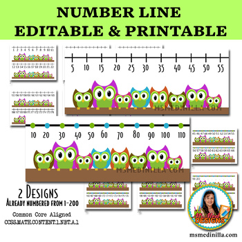 This is a picture of Free Printable Number Line intended for pdf
