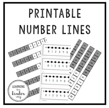 Printable Number Line -- The Almost Free Files
