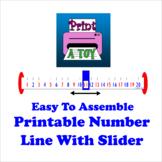 Printable Number Line With Slider