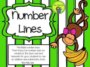 Printable Number Lines