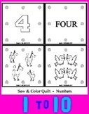 Printable Number Quilt Arts & Craft Activity - Number Work