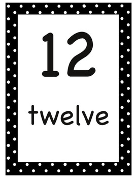 Printable Number Wall 0-20