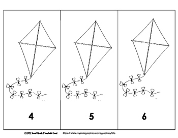 FREEBIE! Printable Numbered Kites 1-20: Number Recognition, Counting, & Ordering