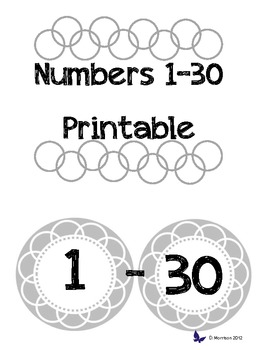 photo about Printable Numbers called Printable Quantities 1-30