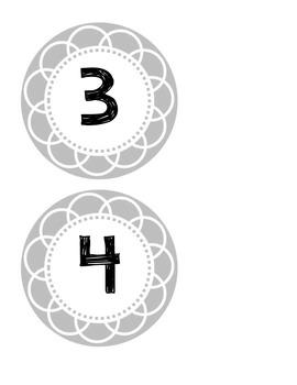 Printable Numbers 1-30