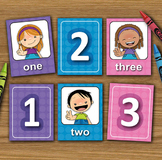 Numbers - English - Matching Cards - DIY Memory Game - Kid