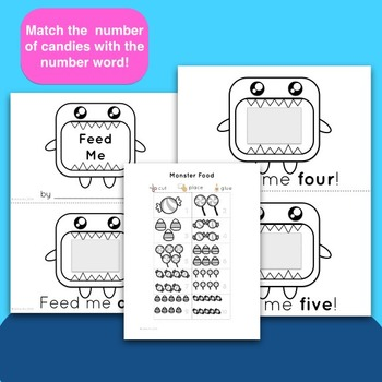 Printable Numbers Sight Word Review Activity (1-10) - Feed the Monster!