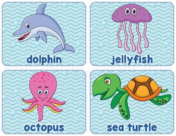 Printable Ocean Animal Word Wall
