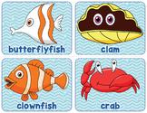 Printable Ocean Animals Word Wall Bulletin Board