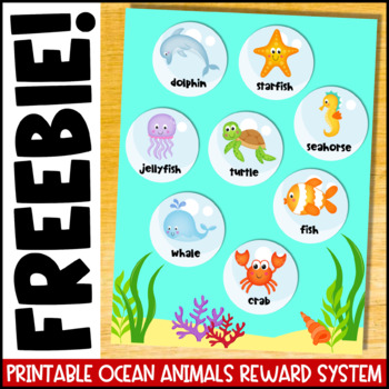 VIPKID Printable Rewards: Ocean Animals Reward System (GogoKid, DadaABC, SayABC)