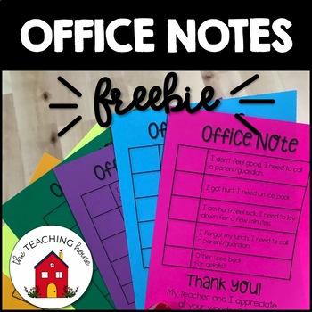 Office Note FREEBIE