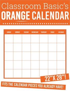 "Printable Orange Calendar (22""X28""!)"