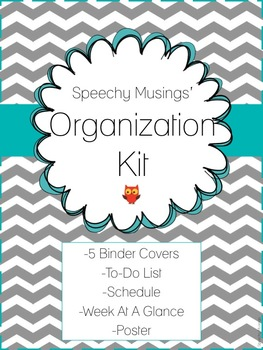 Organization Kit Freebie: To-Do List, Schedule, Weekly Overview, Binder Covers