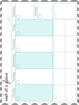 organization kit freebie to do list schedule weekly overview