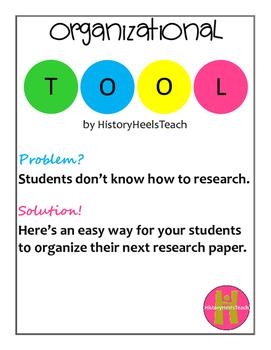 Research Organizational Tool