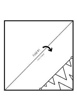 FREEBIE Printable Origami Corner Bookmark - Monster