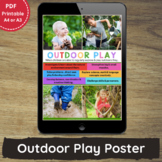 Printable Outdoor Play Poster for PreK, Childcare, Family