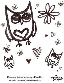 Printable Owl Coloring Sheet