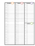 Printable PDF Blank Undated Appointment Calendar 8.5 x 11 Notebook Style