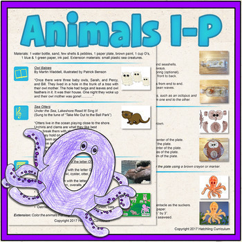Learn Letters I-P: Animal Alphabet Lesson Plans and Activities