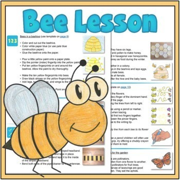Bee Lesson Plan: Pre-Writing and Number Bee Activities {FreeBee Printables}
