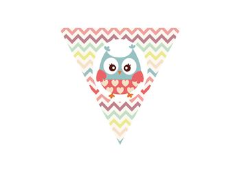 Printable PDF Owl Welcome Banner for the classroom