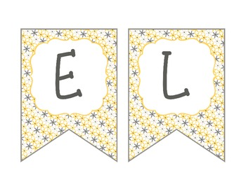 Printable PDF Yellow and Grey Bird themed Welcome Banner for the classroom