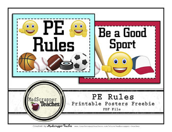 Printable PE Rules Posters Freebie