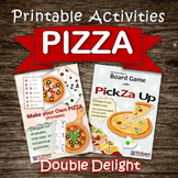 Printable PIZZA Activities (board game, vocational, dramat
