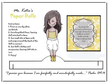 Printable Paper Doll - Dress me up in Yellow!