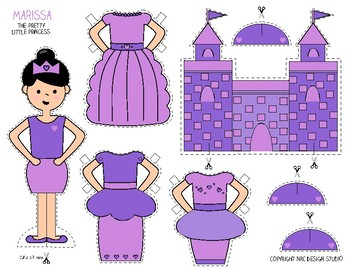 Printable, Paper Dolls, Princess Marissa - Activity