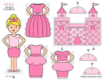 Printable, Paper Dolls, Princess Natalie - Activity